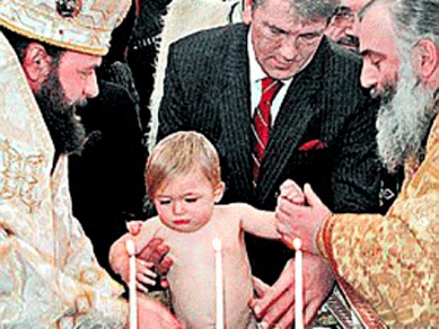 Ющенко став кумом Порошенка