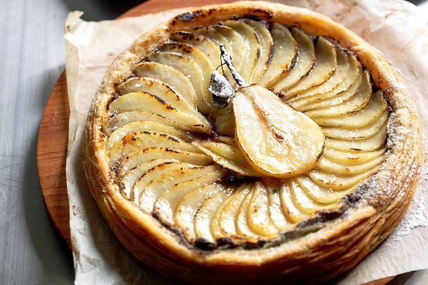 Осінній пиріг з грушею