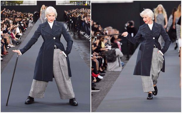 Хелен Міррен на шоу  L'Oreal Paris в рамках Тижня моди в Парижі