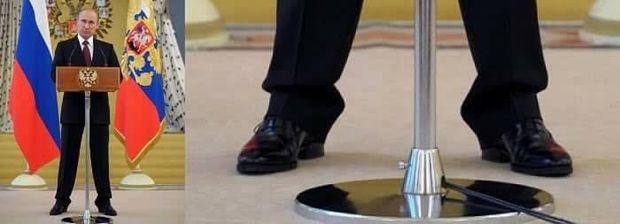 Путін носить взуття на високому каблуці