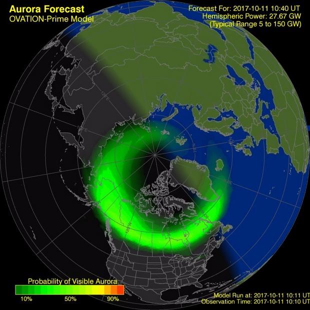 Пік магнітної бурі на Землі