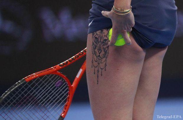 На стегні у тенісистки зображений тигр