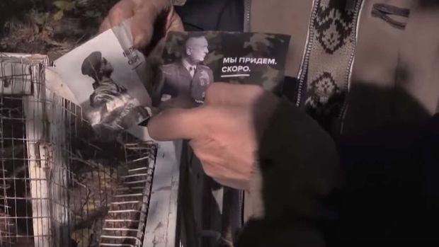 Українські патріоти засипали окупований Донецьк новими листівками