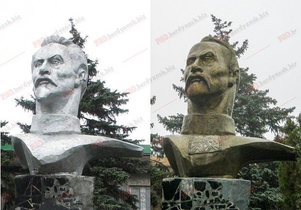 Пам'ятник Джержинському перетворився на Кривоноса у Бердянську