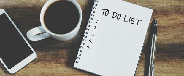 Складайте список із щоденний справ чи цілей