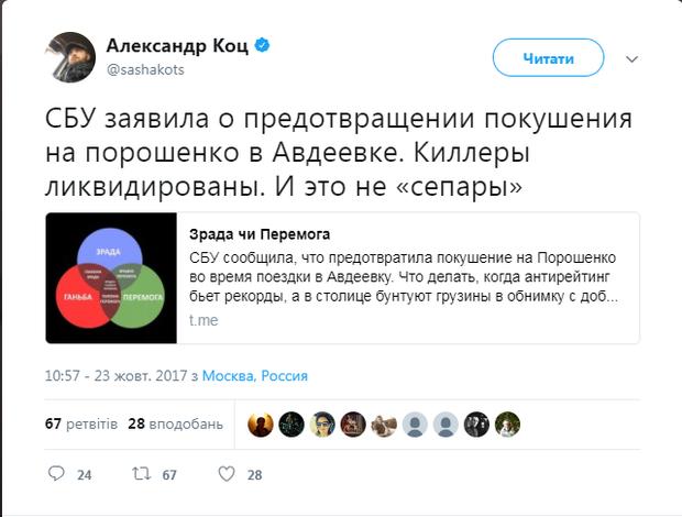 РОсЗМІ, Кремль, Порошенко, замах, СБУ, Коц