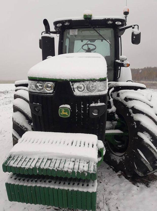 Сніг на Чернігівщині