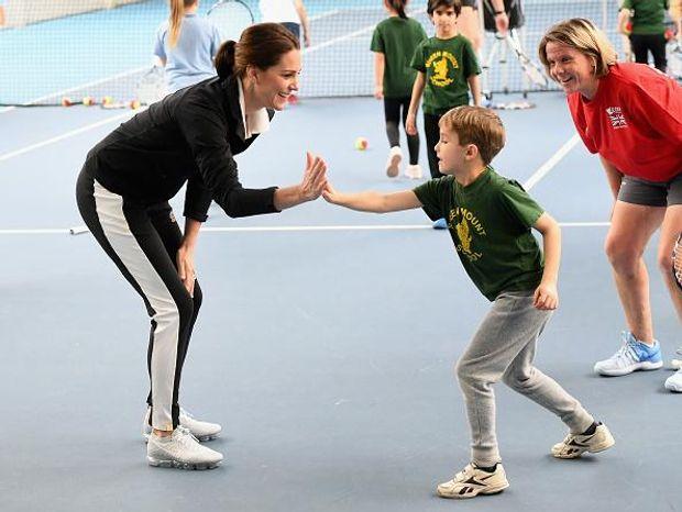 Вагітна Кейт Міддлтон зіграла в теніс