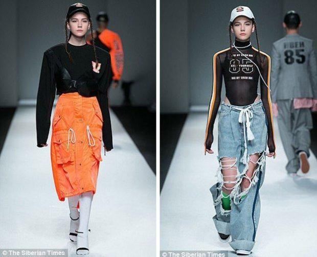 Влада Дзюба під час модного показу