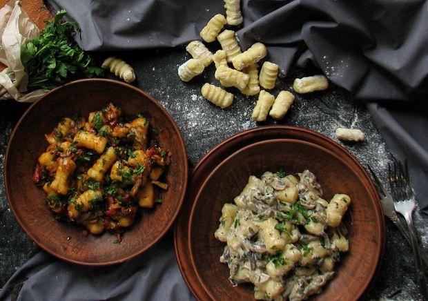 Рецепти ньокі з лососем та шпинатом