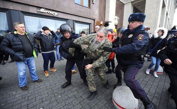 Протести вРФ: кількість затриманих зросла до448 осіб
