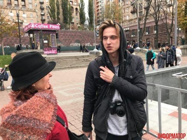Товариш чоловіка, який в Києві гуляв із прапором Росії