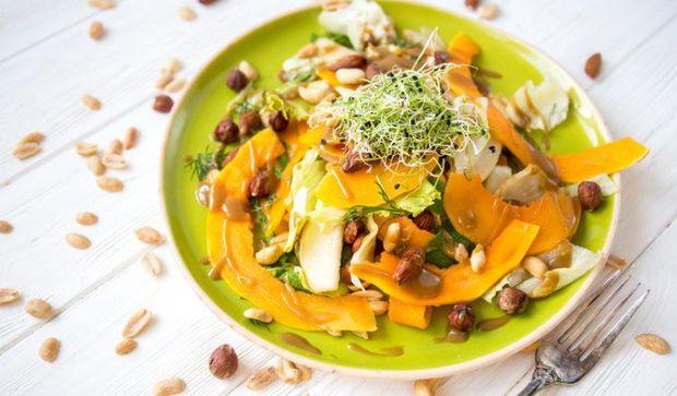 Рецепт салату з грушею та гарбузом з фото
