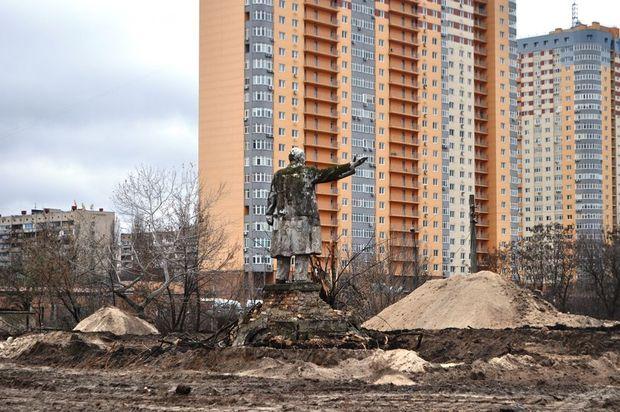 Пам'ятник Леніну на Оболоні в Києві