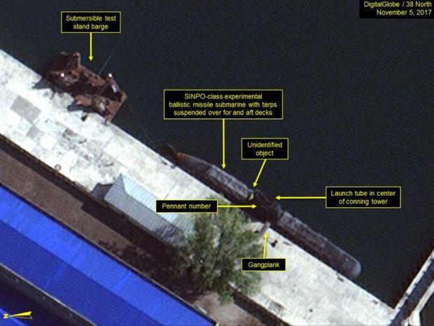 КНДР почала будівництво підводного човна з балістичними ракетами: є фото