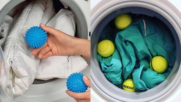 Використовуйте для прання спеціальні кульки або тенісні м'ячі