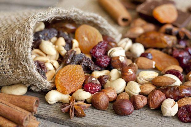 Горіхи і сухофрукти повинні бути натуральними та без додавання цукру