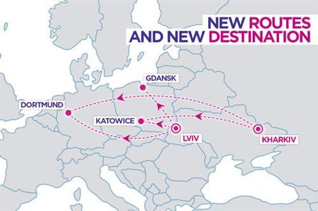 Від 279 гривень: Wizz Air відкриває нові маршрути зі Львова та відновлює польоти з Харкова