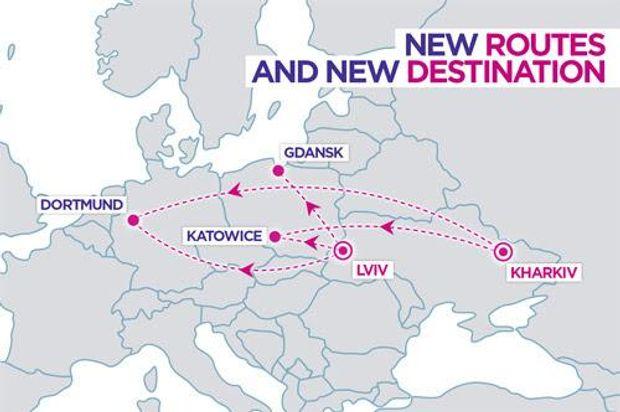 Нові рейси Wizz Air з України