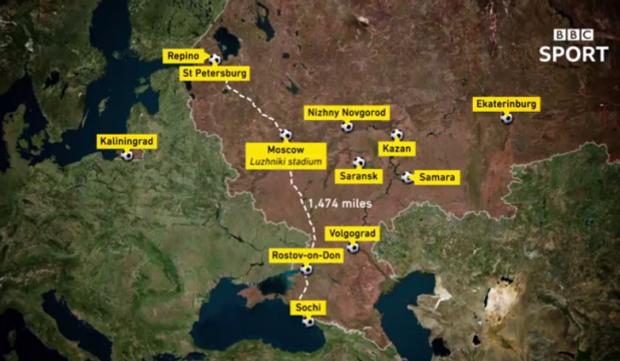 Карта Криму у складі Росії