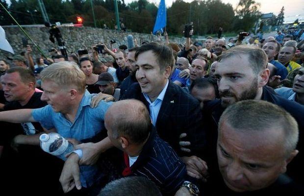 Драматический прорыв границы Саакашвили