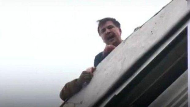 Саакашвили на крыше