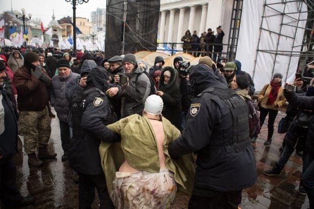 Акція протесту у наметовому містечку під Верховною Радою