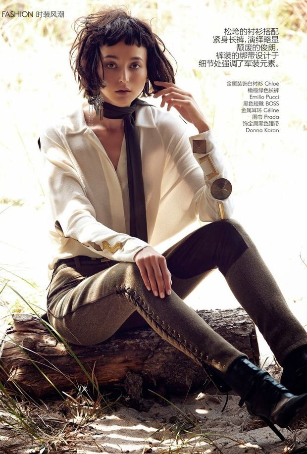Евеліна Мамбетова для Vogue