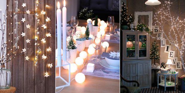 Декорування новорічними вогниками