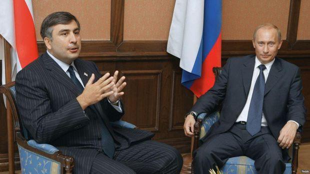 Саакашвілі, Путін, Росія, війна