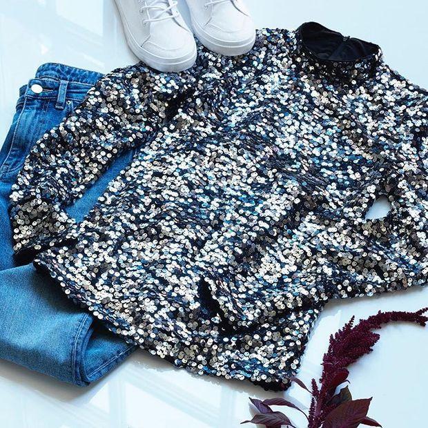 Як правильно носити одяг з паєтками  5 влучних образів - Lifestyle 24 36e0c696970c2