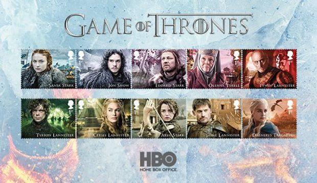 пошта марки Гра престолів