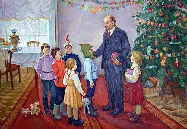 Ленін і діти на Новий рік
