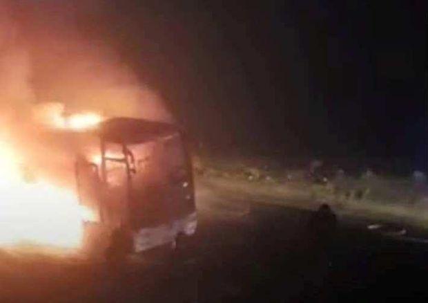 Автобус, Грузія, Росія, пожежа
