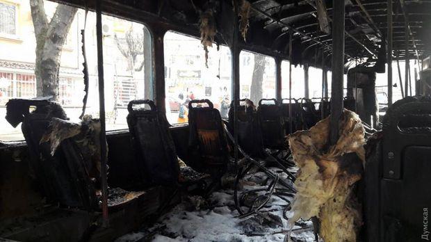 Трамвай пожежа Одеса