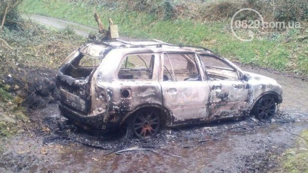 Спалений автомобіль Міка Алпса