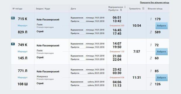 Замовляти квитки на потяг можна з пересадками