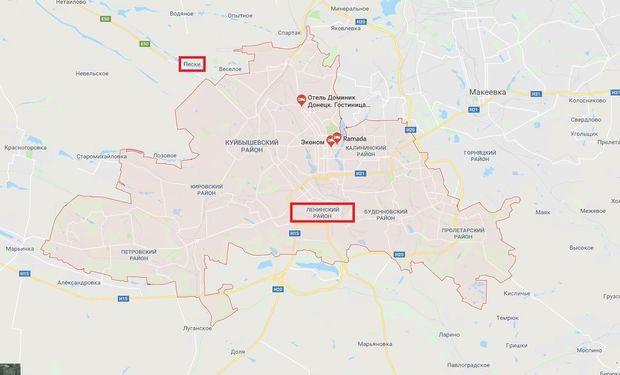 Карта міста Донецька