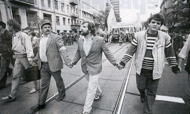Святкування Дня Соборності в Києві у 1990 році