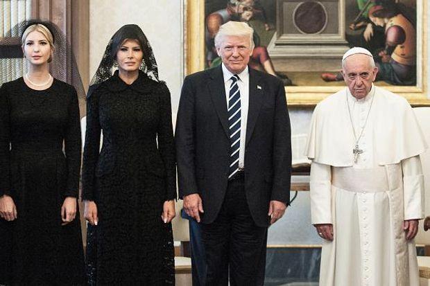 Трамп Меланія Іванка Папа Франциск