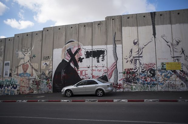 Трамп Ізраїль мурал стіна