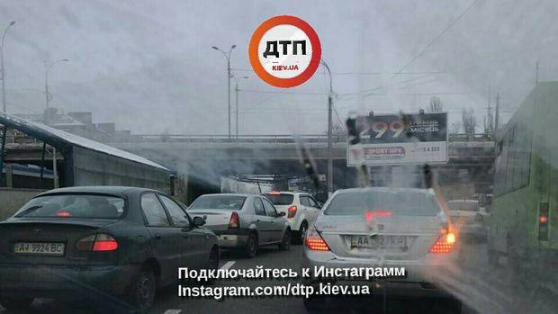 Київ аварія шляхопровід
