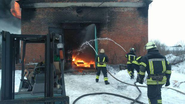Пожежа на складі у Слов'янську
