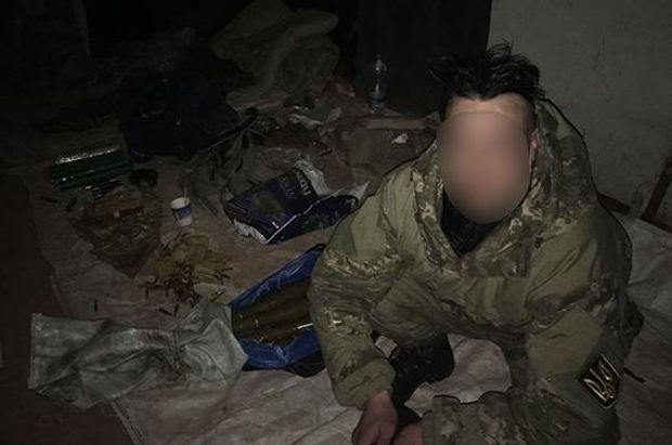 Військовослужбовець на якого натрапили правоохоронці