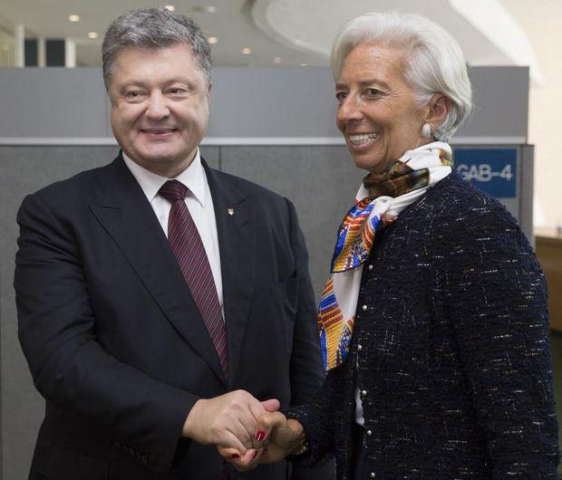 Петро Порошенко разом з Крістін Лагард