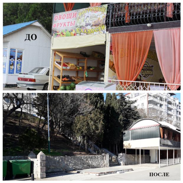Окупанти знесли кілька кафе на набережній Алушти
