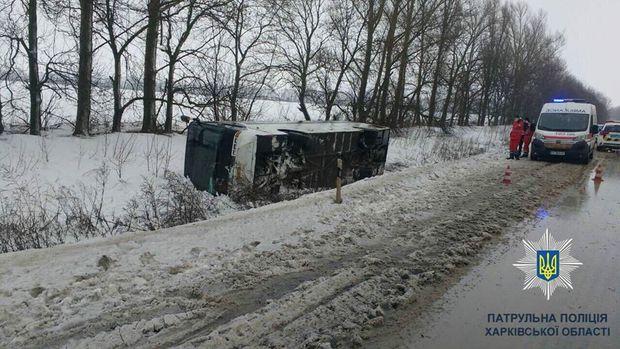 Харків автобус вітер ДТП