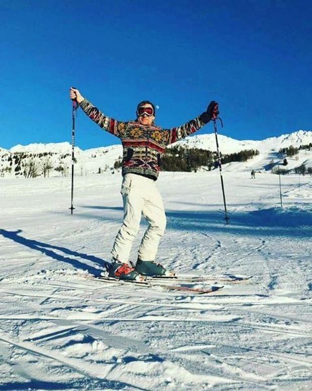 Олег Скрипка проводить зимову відпустку в Альпах