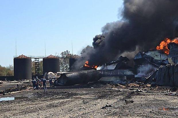 Пожежа на нафтобазі БРСМ