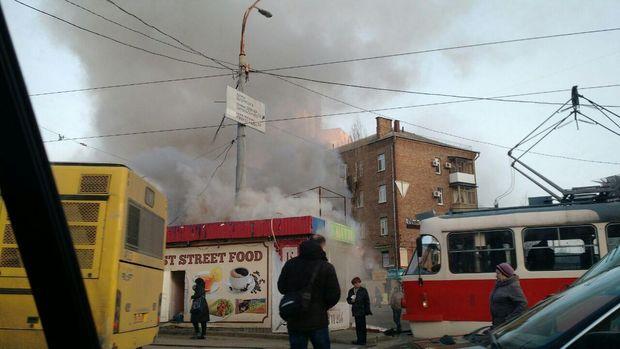 Київ, пожежа, МАФ, Лук'янівська